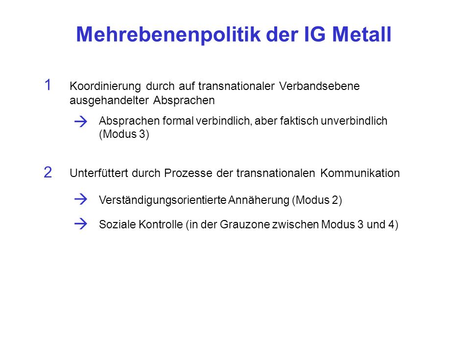 Mehrebenenpolitik der IG Metall