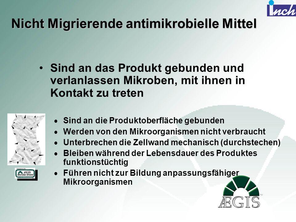 Nicht Migrierende antimikrobielle Mittel
