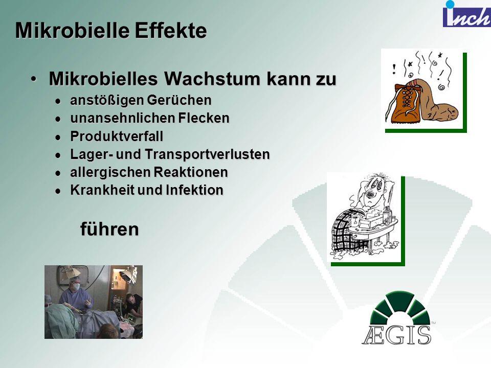 Mikrobielle Effekte Mikrobielles Wachstum kann zu führen
