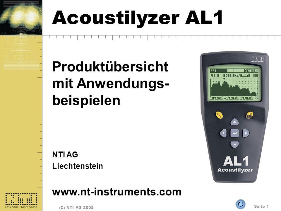 Acoustilyzer AL1 Produktübersicht mit Anwendungs- beispielen