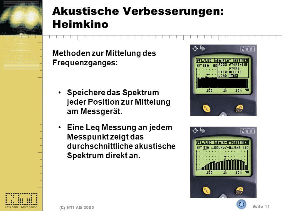 Akustische Verbesserungen: Heimkino