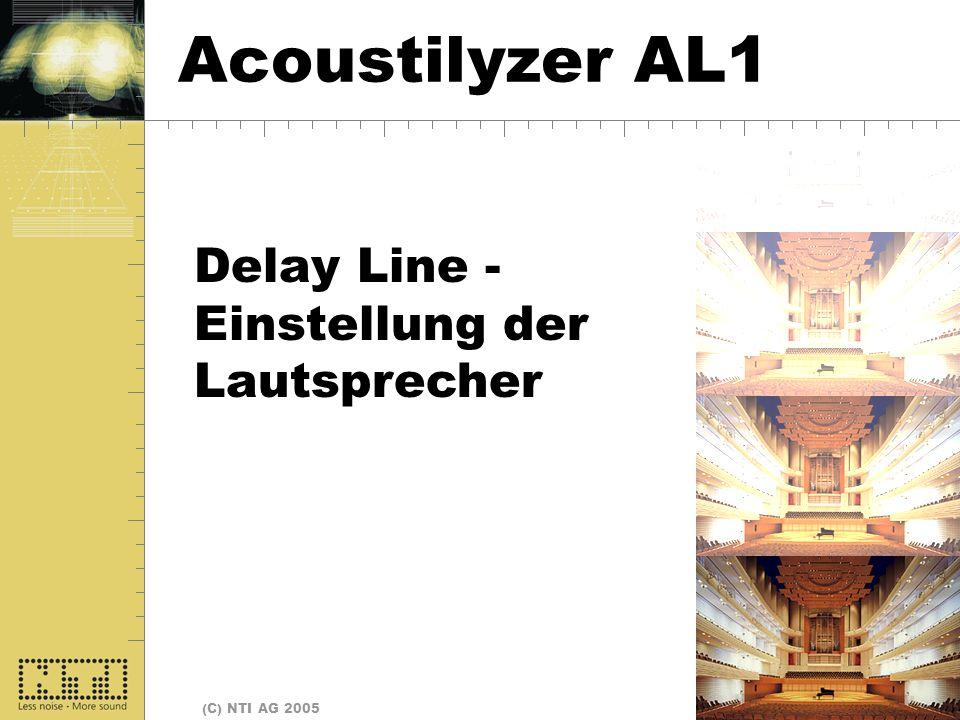 Delay Lines Acoustilyzer AL1 Delay Line - Einstellung der Lautsprecher