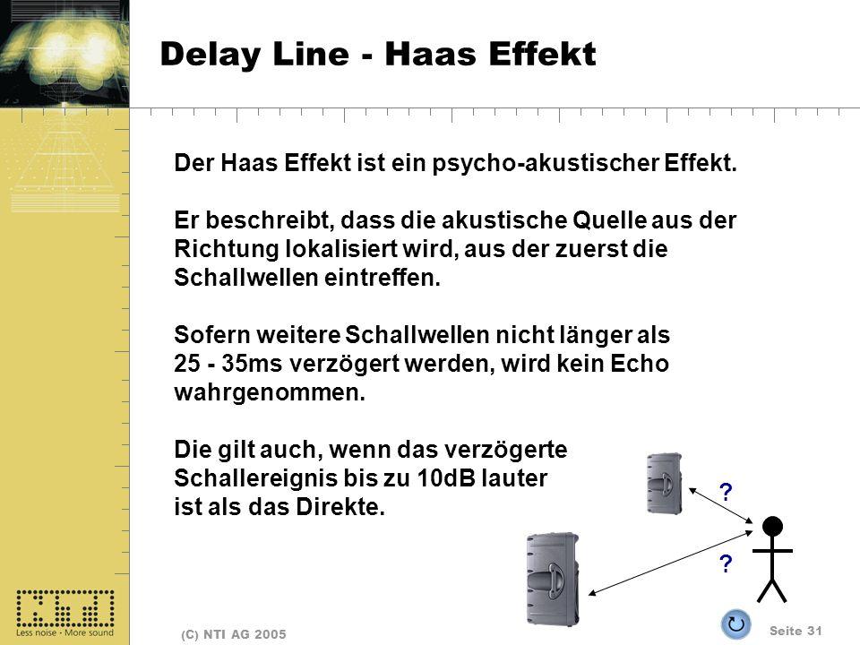 Delay Line - Haas Effekt