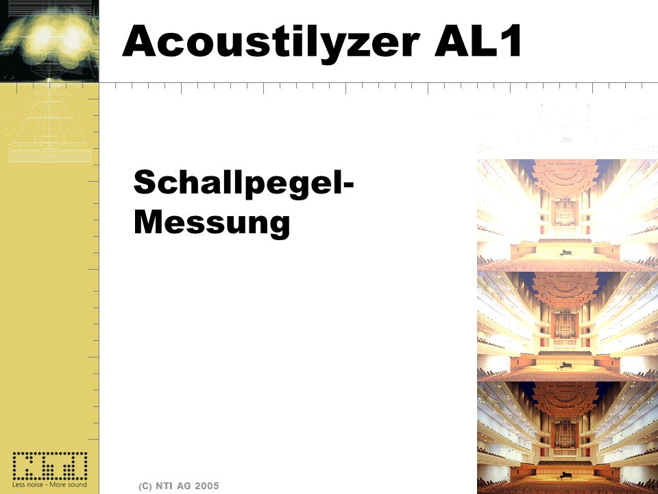 Start Acoustilyzer AL1 Schallpegel- Messung