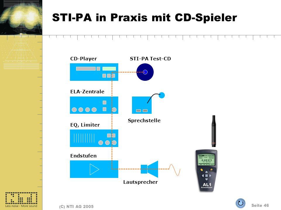 STI-PA in Praxis mit CD-Spieler