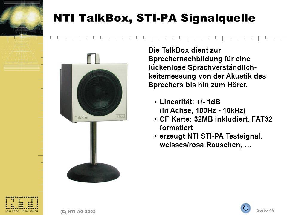 NTI TalkBox, STI-PA Signalquelle