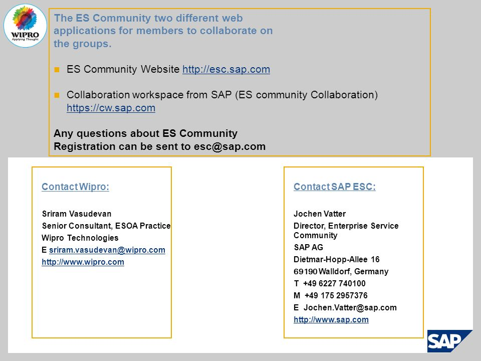 The ES Community two different web