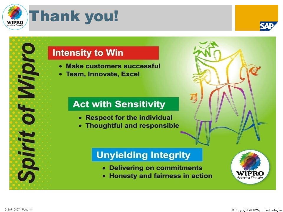 Thank you! © SAP 2007 / Page 11
