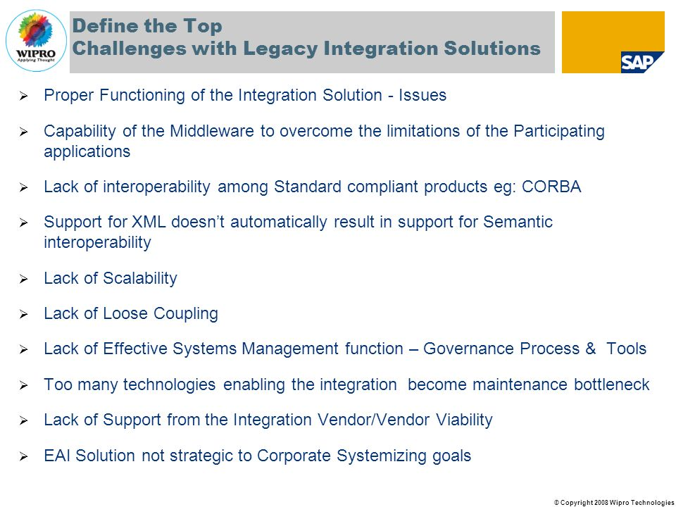 Define the Top Challenges with Legacy Integration Solutions