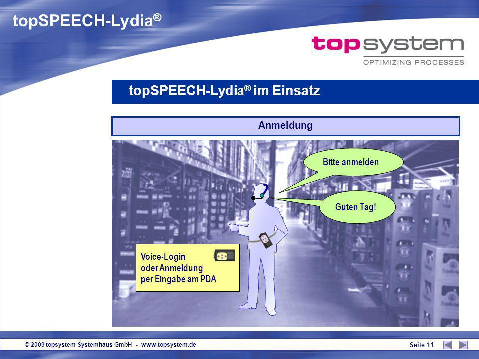 topSPEECH-Lydia® topSPEECH-Lydia® im Einsatz Anmeldung Bitte anmelden