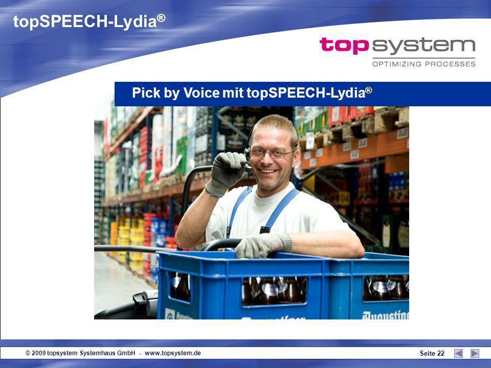 topSPEECH-Lydia® Pick by Voice mit topSPEECH-Lydia®