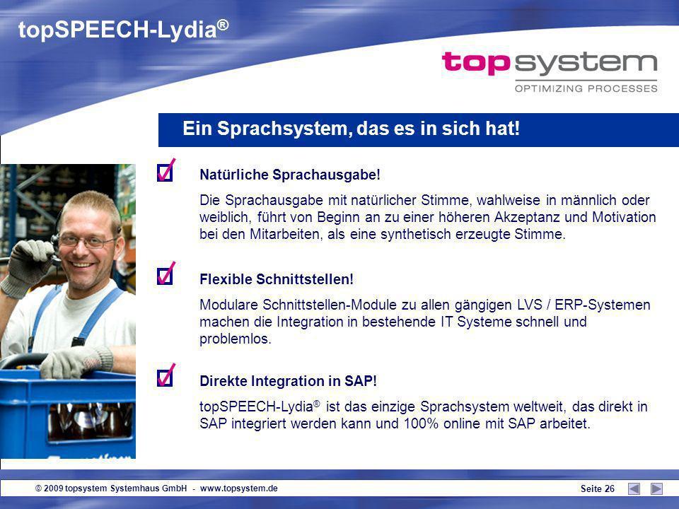 topSPEECH-Lydia® Ein Sprachsystem, das es in sich hat!
