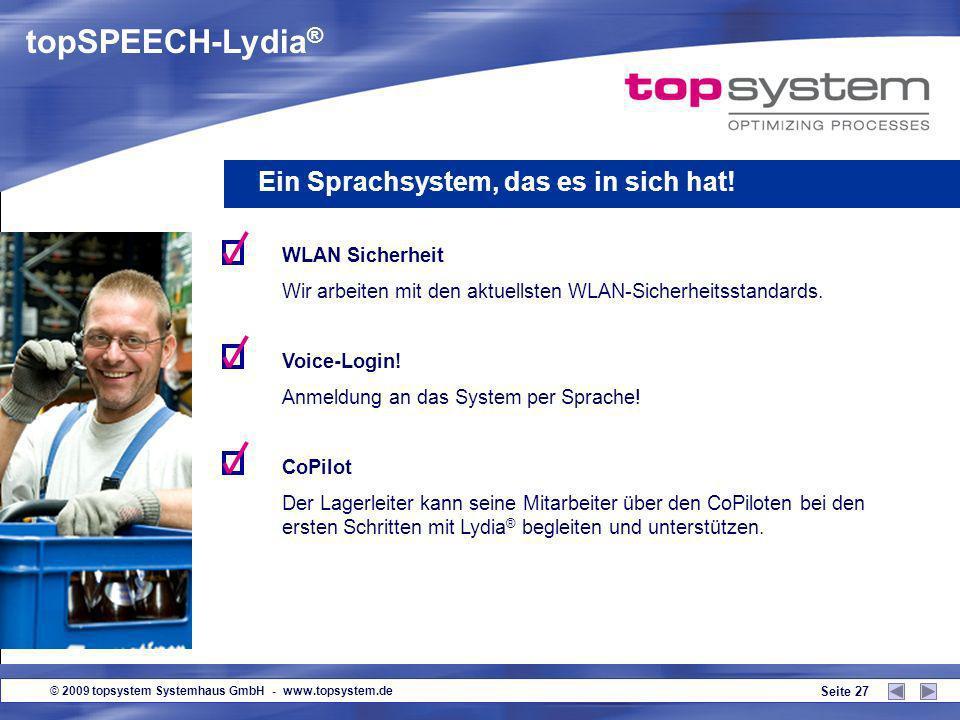 topSPEECH-Lydia® Ein Sprachsystem, das es in sich hat! WLAN Sicherheit
