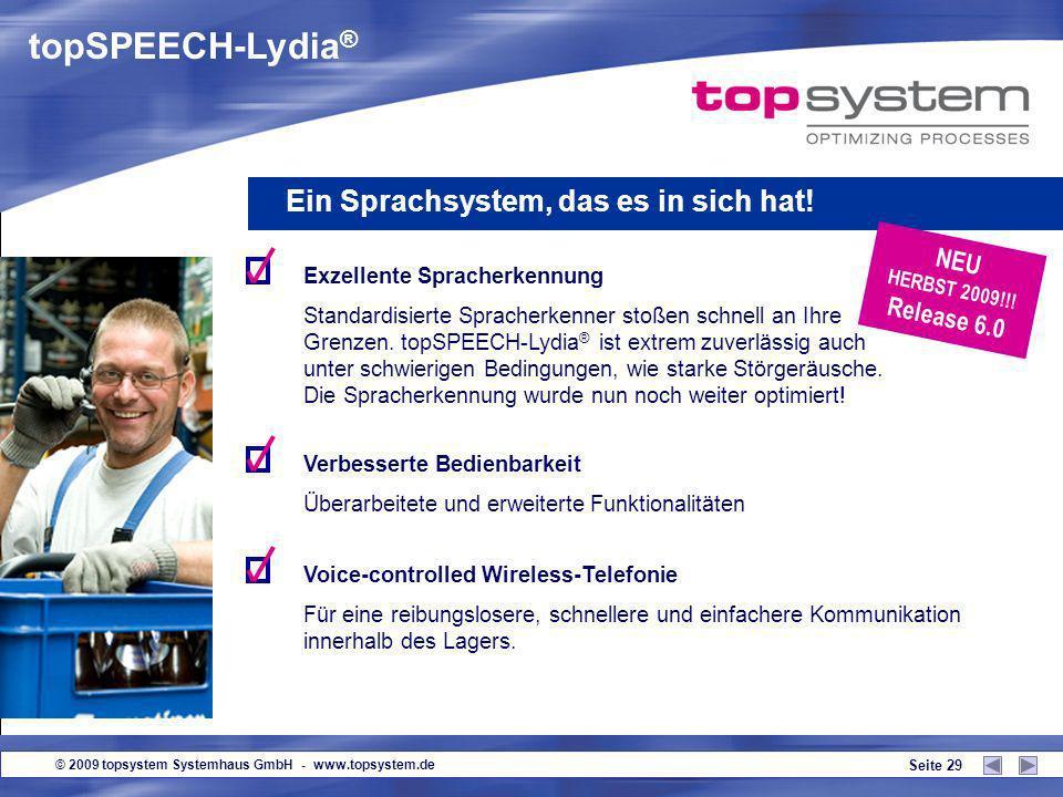 topSPEECH-Lydia® Ein Sprachsystem, das es in sich hat! NEU Release 6.0