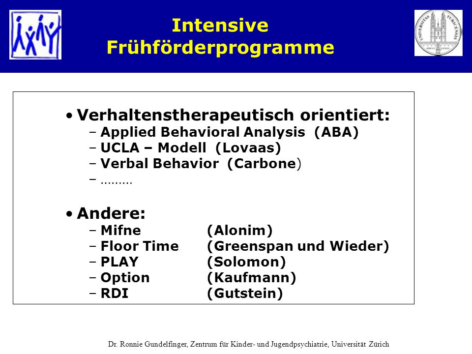 Intensive Frühförderprogramme