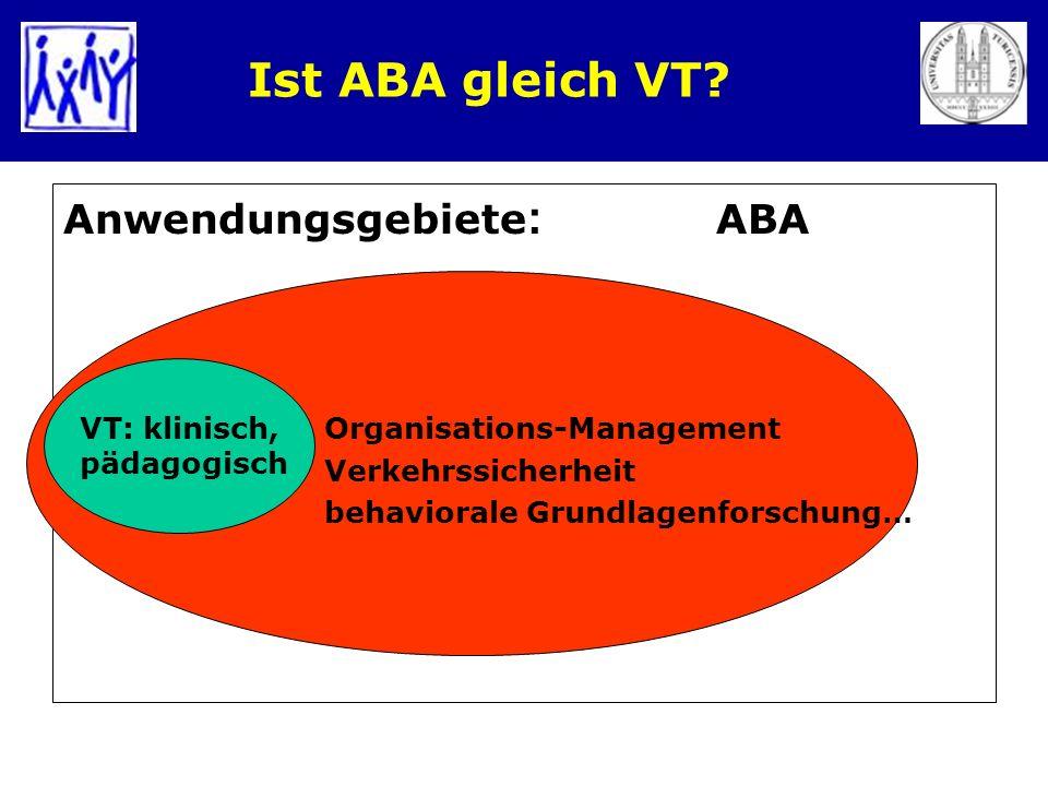 Ist ABA gleich VT Anwendungsgebiete: ABA Organisations-Management