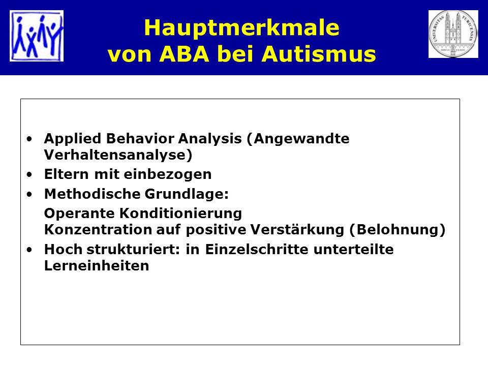 Hauptmerkmale von ABA bei Autismus