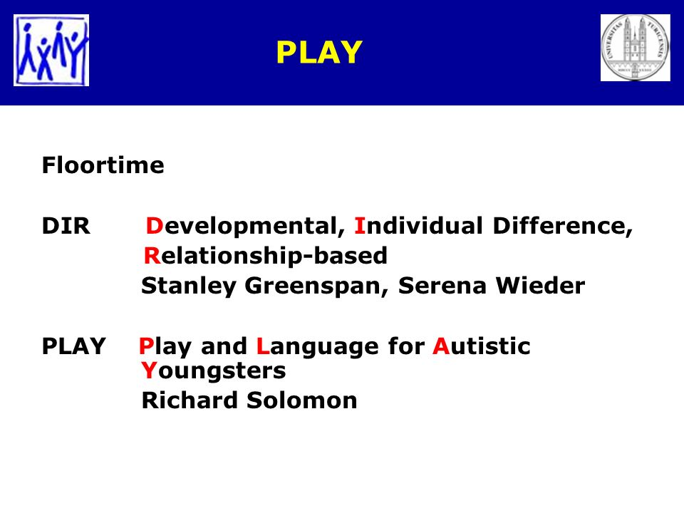 PLAY Floortime DIR Developmental, Individual Difference,