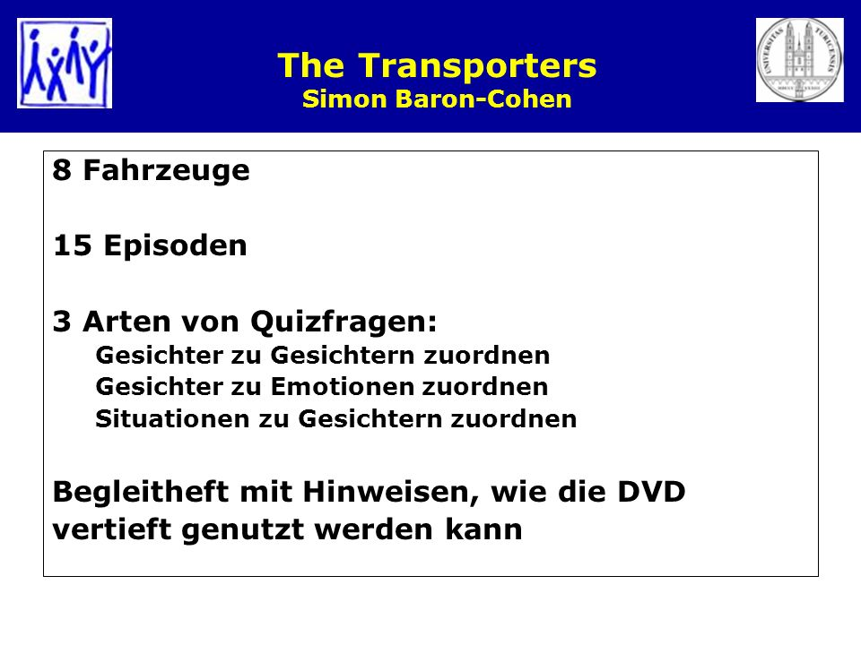 The Transporters Simon Baron-Cohen
