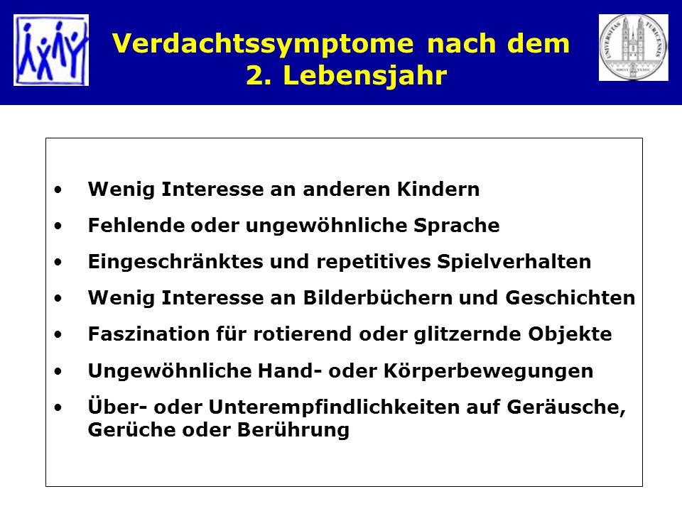 Verdachtssymptome nach dem 2. Lebensjahr