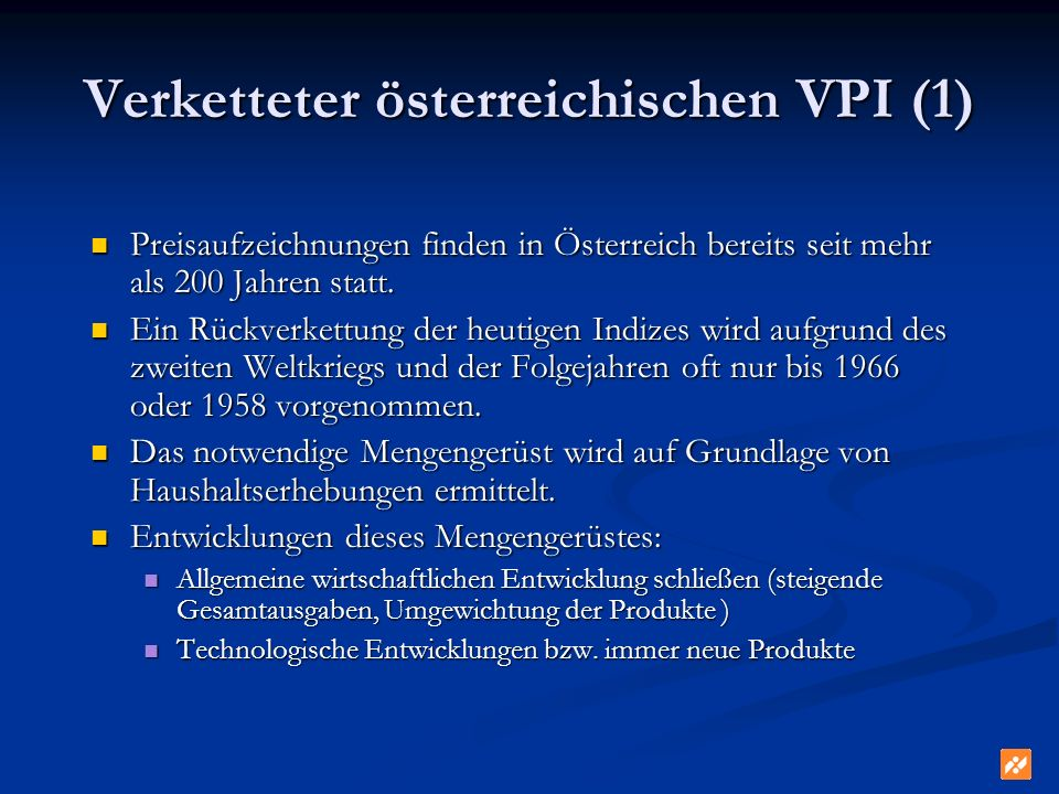 Verketteter österreichischen VPI (1)