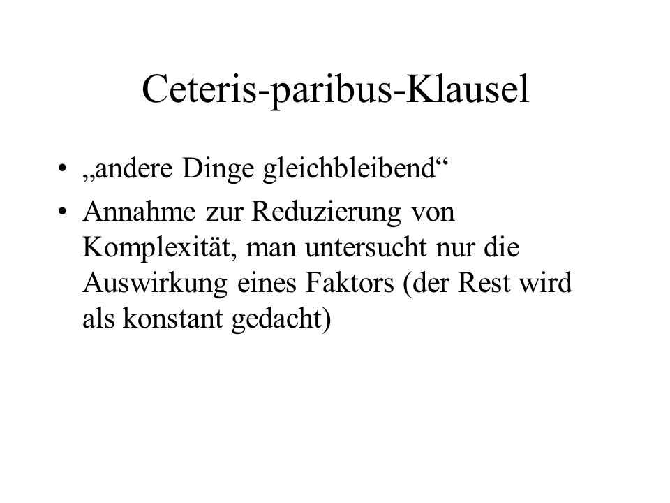Ceteris-paribus-Klausel