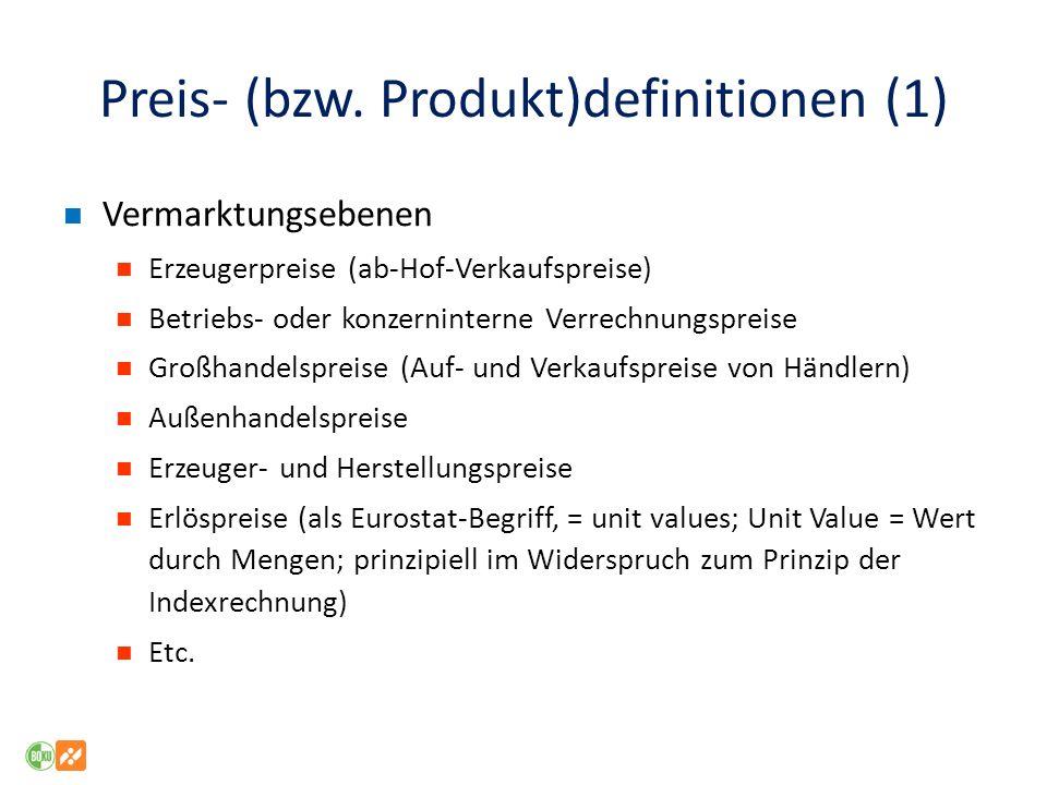 Preis- (bzw. Produkt)definitionen (1)
