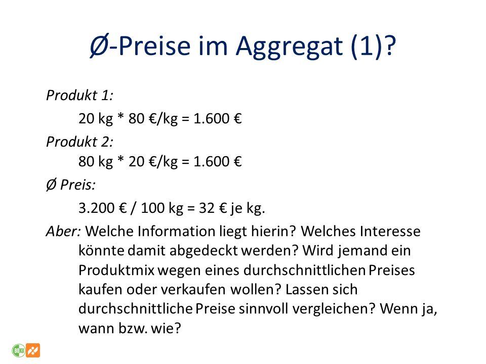 Ø-Preise im Aggregat (1)