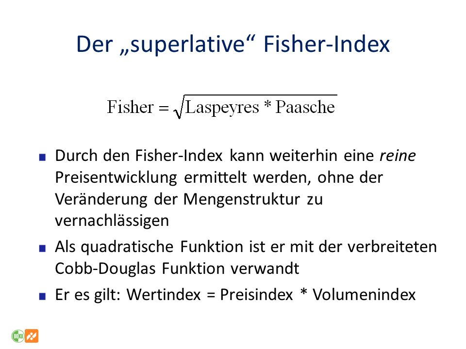 "Der ""superlative Fisher-Index"