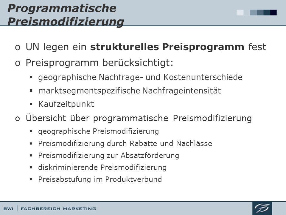 Programmatische Preismodifizierung