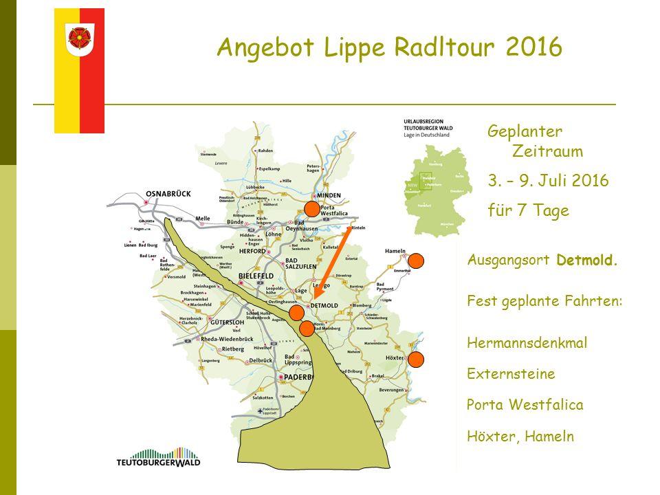 Angebot Lippe Radltour 2016