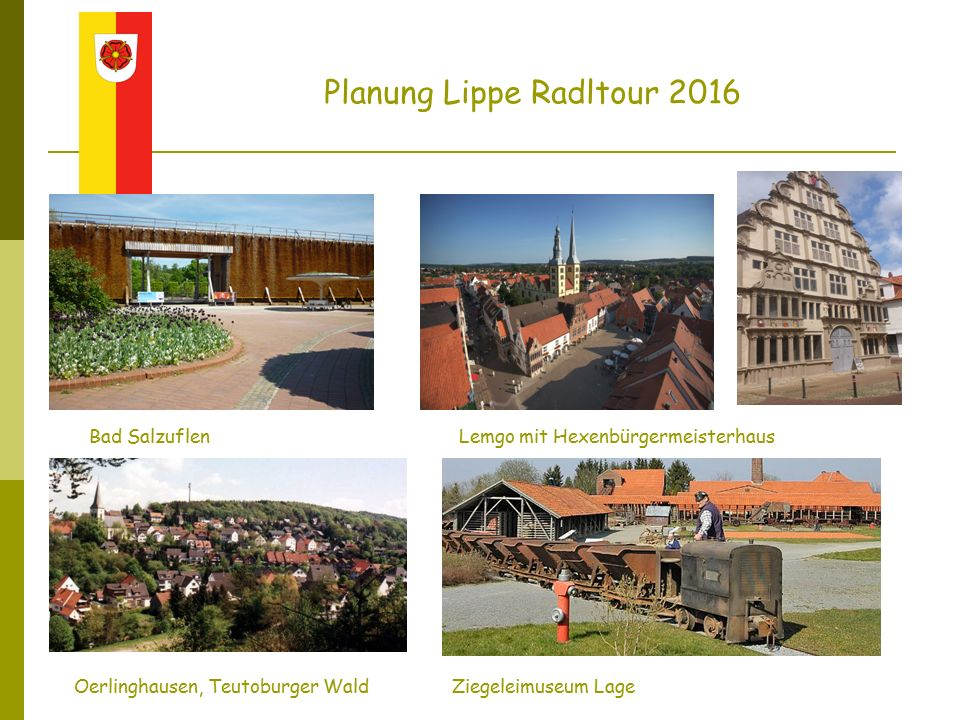Planung Lippe Radltour 2016