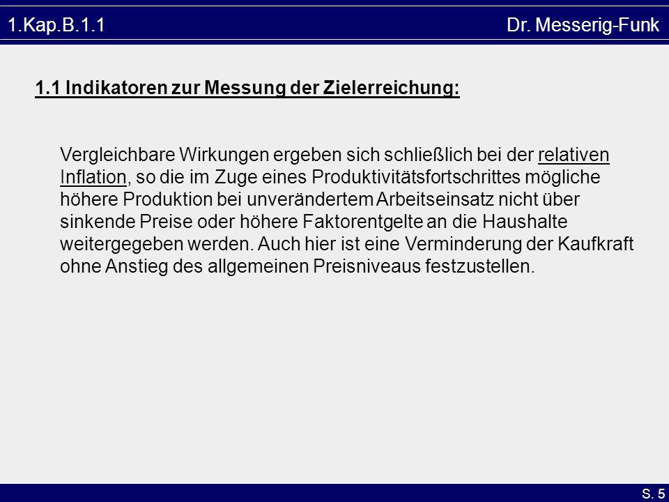 1.Kap.B.1.1 Dr. Messerig-Funk1.1 Indikatoren zur Messung der Zielerreichung: