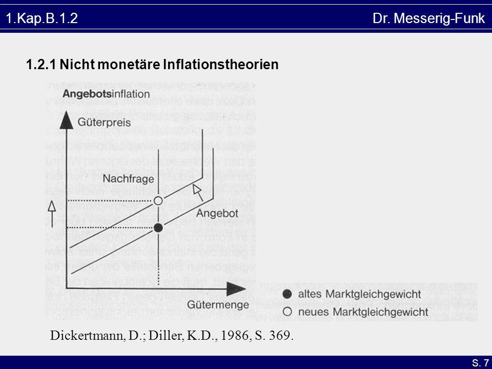 1.Kap.B.1.2 Dr.Messerig-Funk1.2.1 Nicht monetäre Inflationstheorien.