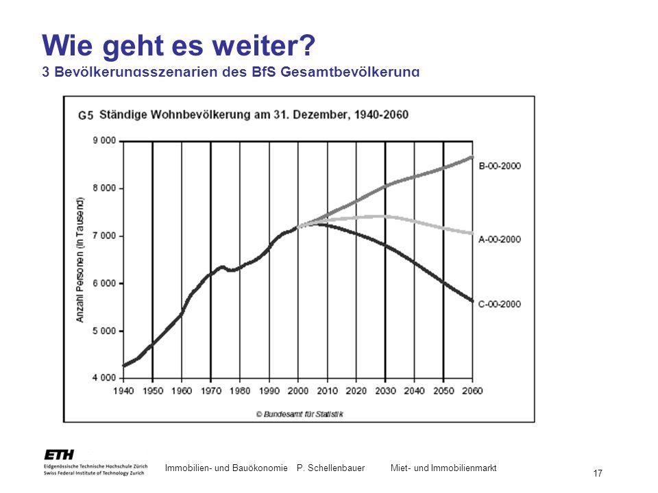 Wie geht es weiter 3 Bevölkerungsszenarien des BfS Gesamtbevölkerung