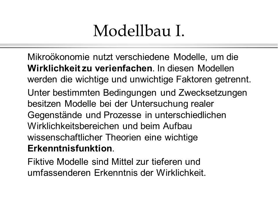 Modellbau I.