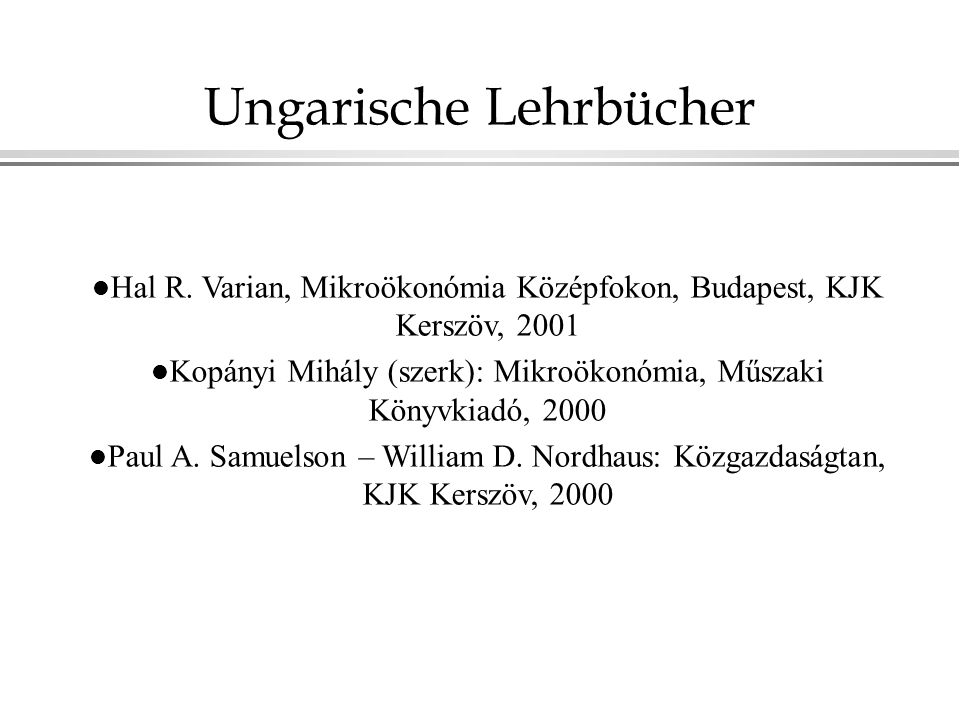 Ungarische Lehrbücher