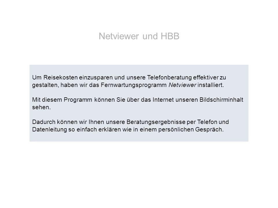 Netviewer und HBB