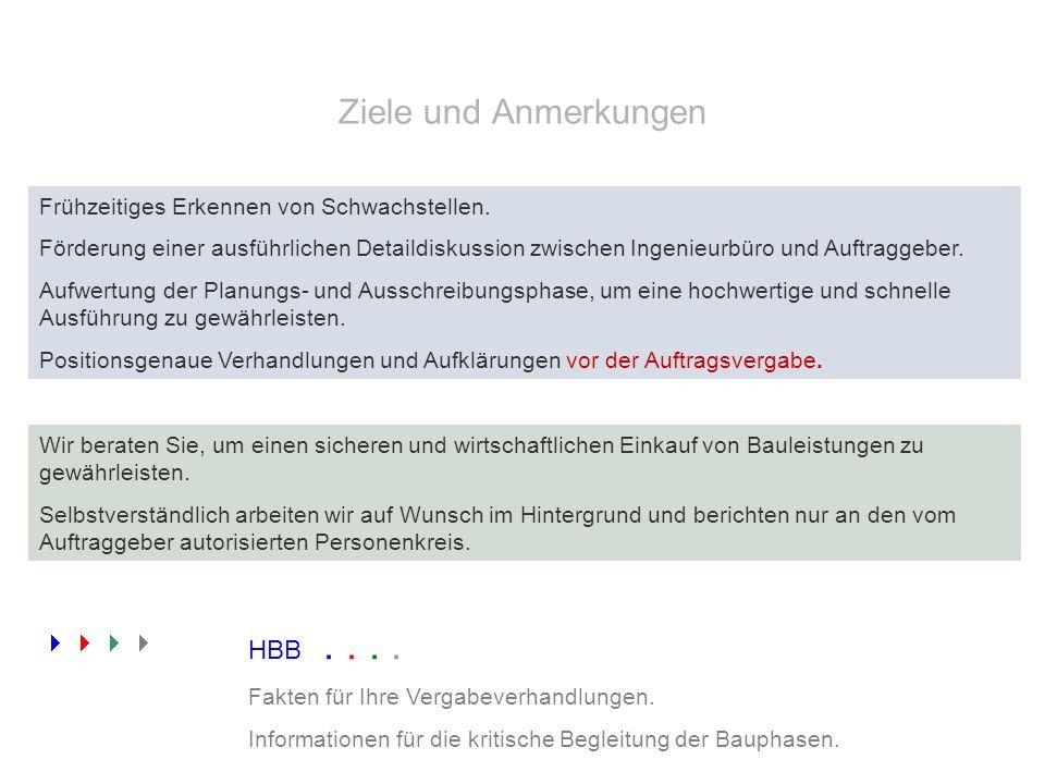 Ziele und Anmerkungen  HBB . . . .