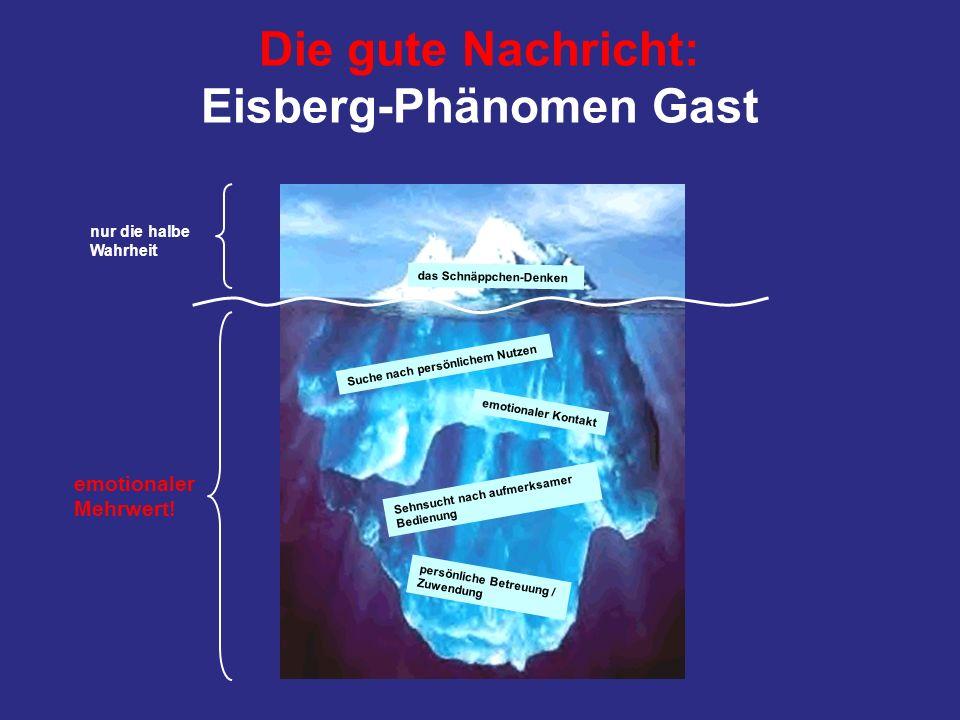 Die gute Nachricht: Eisberg-Phänomen Gast