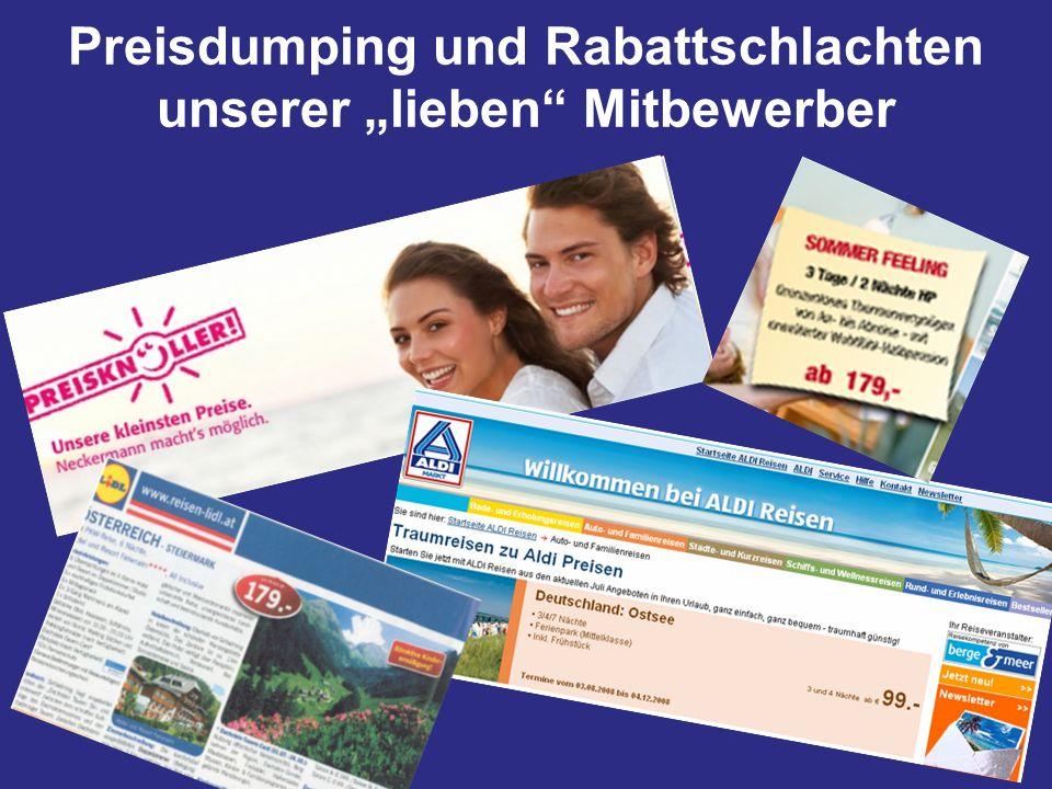 """Preisdumping und Rabattschlachten unserer """"lieben Mitbewerber"""
