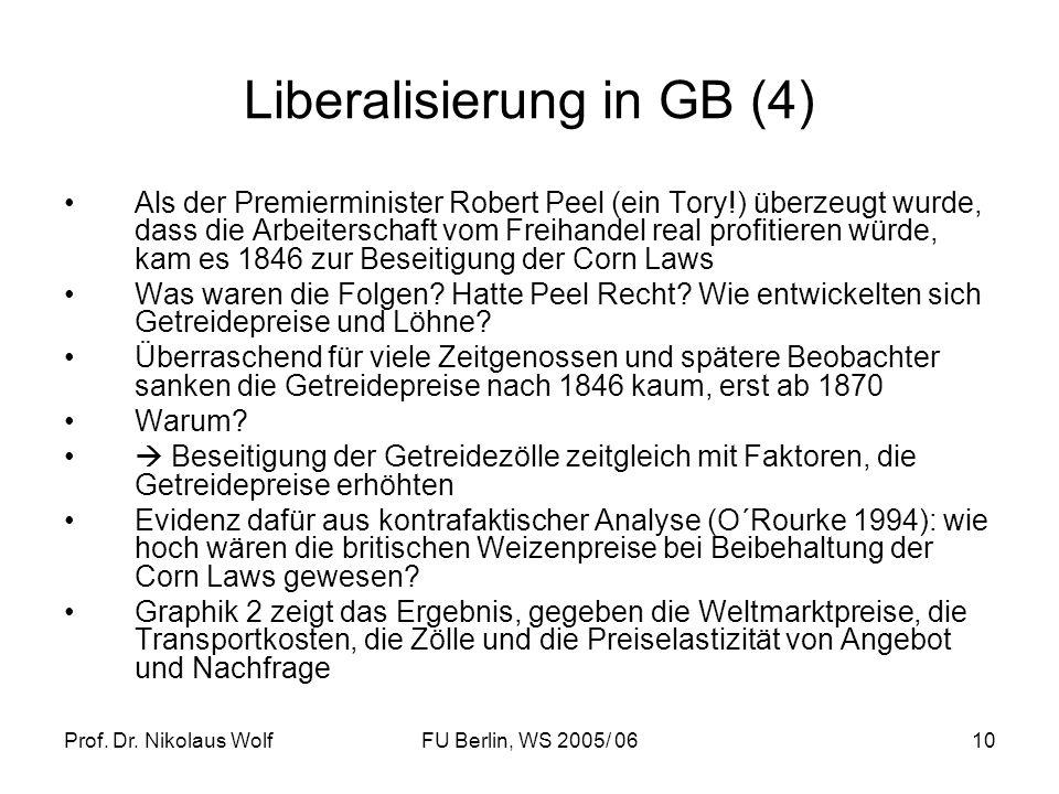 Liberalisierung in GB (4)