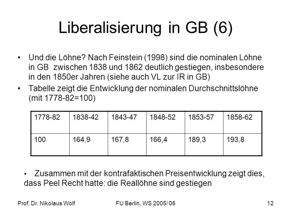 Liberalisierung in GB (6)