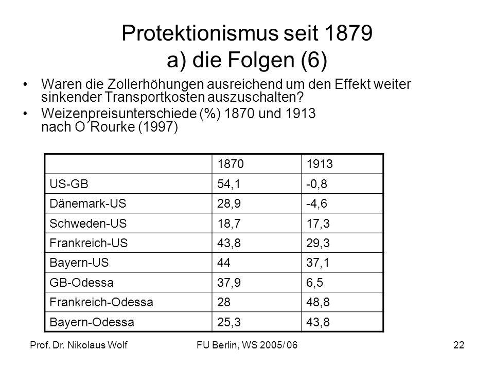 Protektionismus seit 1879 a) die Folgen (6)