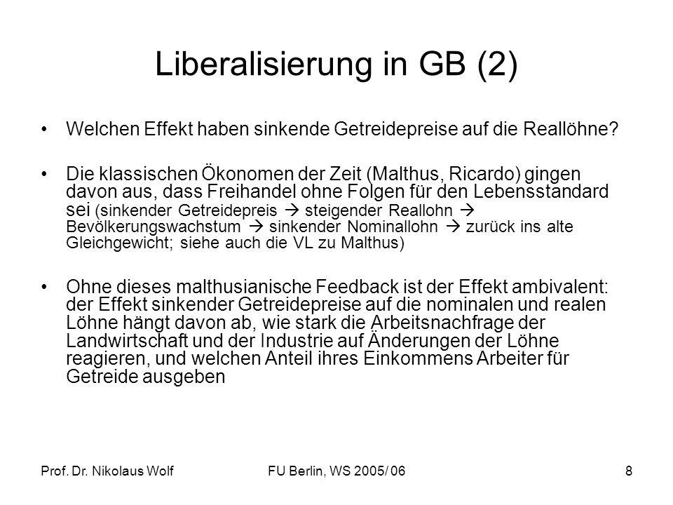 Liberalisierung in GB (2)