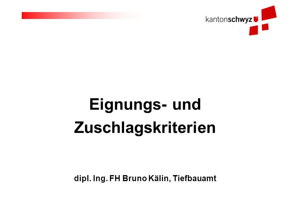 dipl. Ing. FH Bruno Kälin, Tiefbauamt