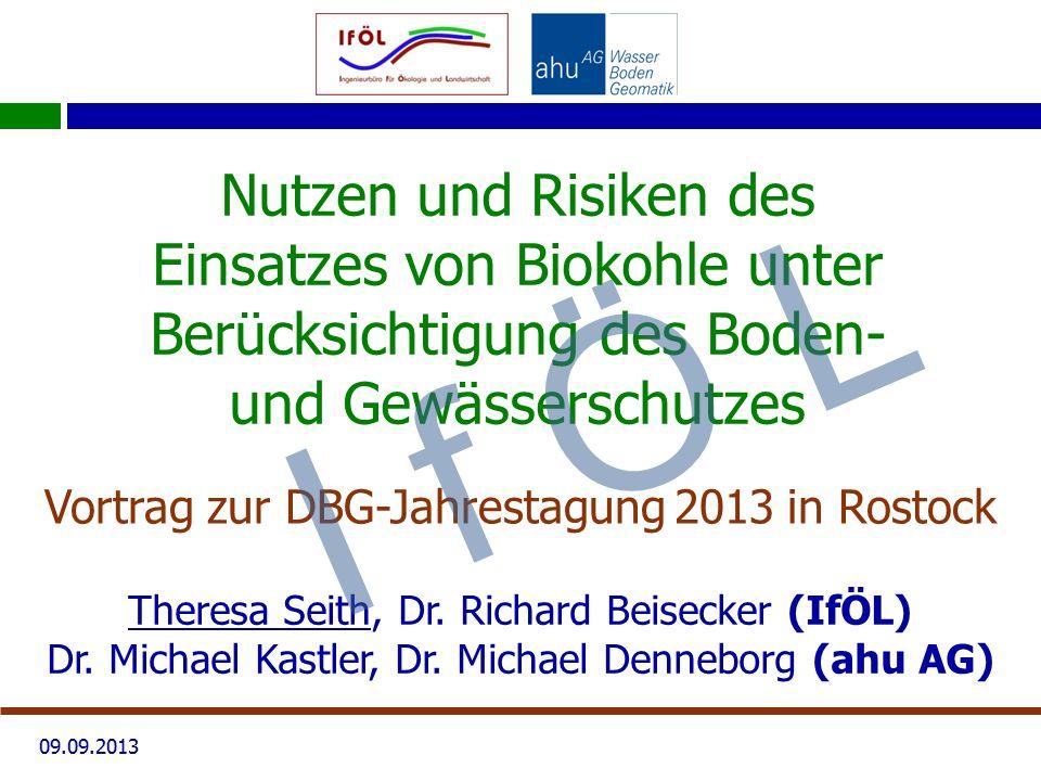 Vortrag zur DBG-Jahrestagung 2013 in Rostock