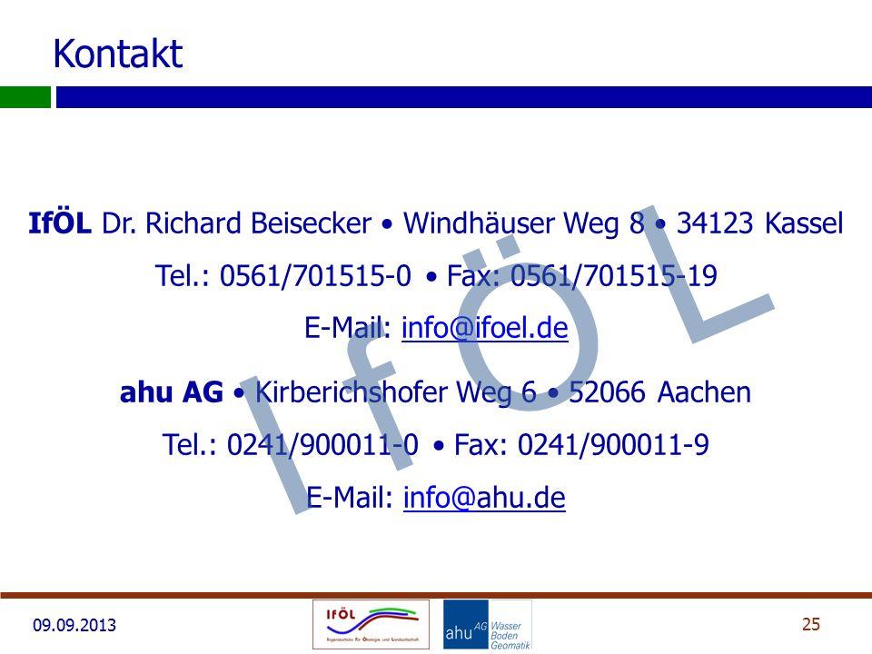 Kontakt IfÖL Dr. Richard Beisecker • Windhäuser Weg 8 • 34123 Kassel Tel.: 0561/701515-0 • Fax: 0561/701515-19 E-Mail: info@ifoel.de.