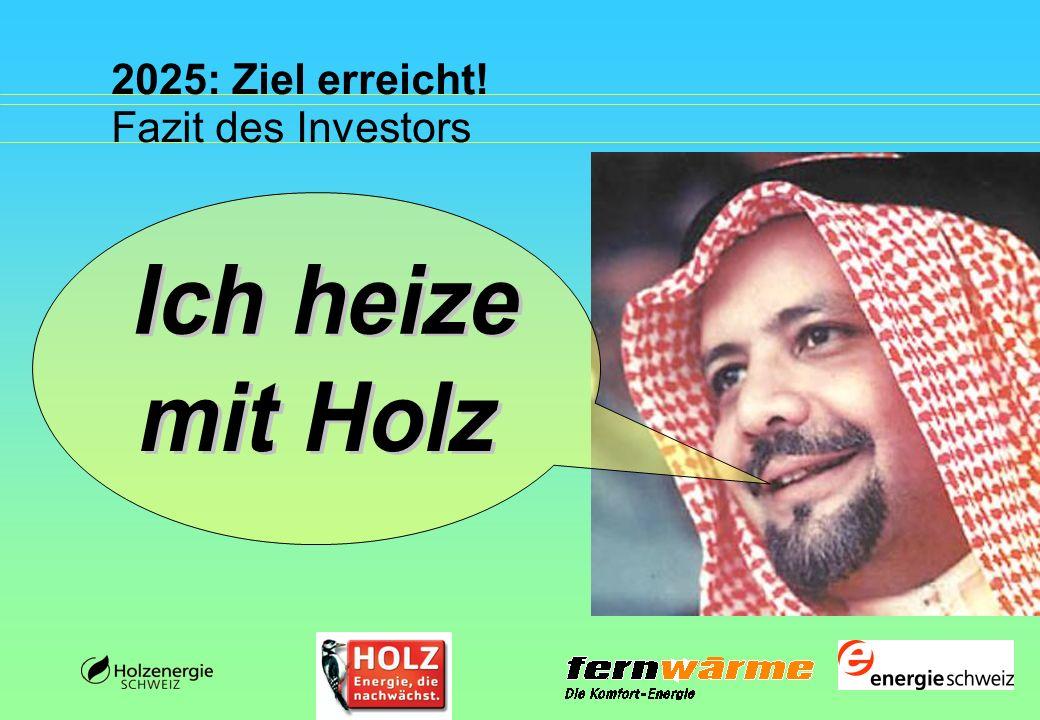 2025: Ziel erreicht! Fazit des Investors Ich heize mit Holz