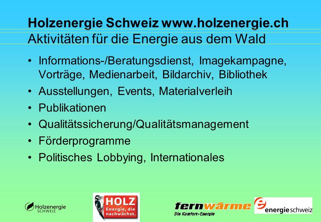 Holzenergie Schweiz www. holzenergie